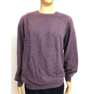 Loro Piana Men's Pullover Sweater V-Neck Purple 58